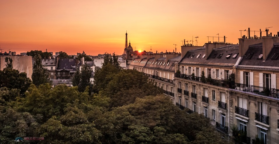 A soft sunset over Paris