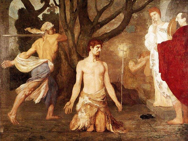 The Beheading of St John the Baptist, painted by Pierre Puvis de Chavannes.