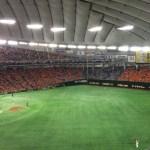 巨人の80周年記念レプリカオレンジユニホームを貰いに東京ドームにいってきた。