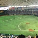 【東京ドーム観戦記】2階席の指定席C 3塁側 E38ブロックからみた光景