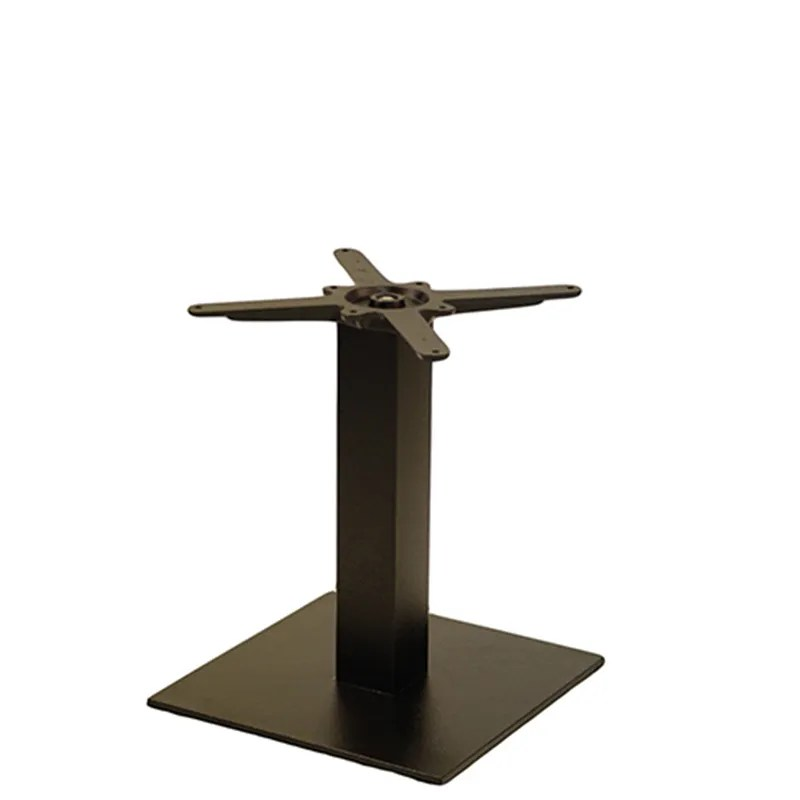 forza square black cast iron table base coffee height