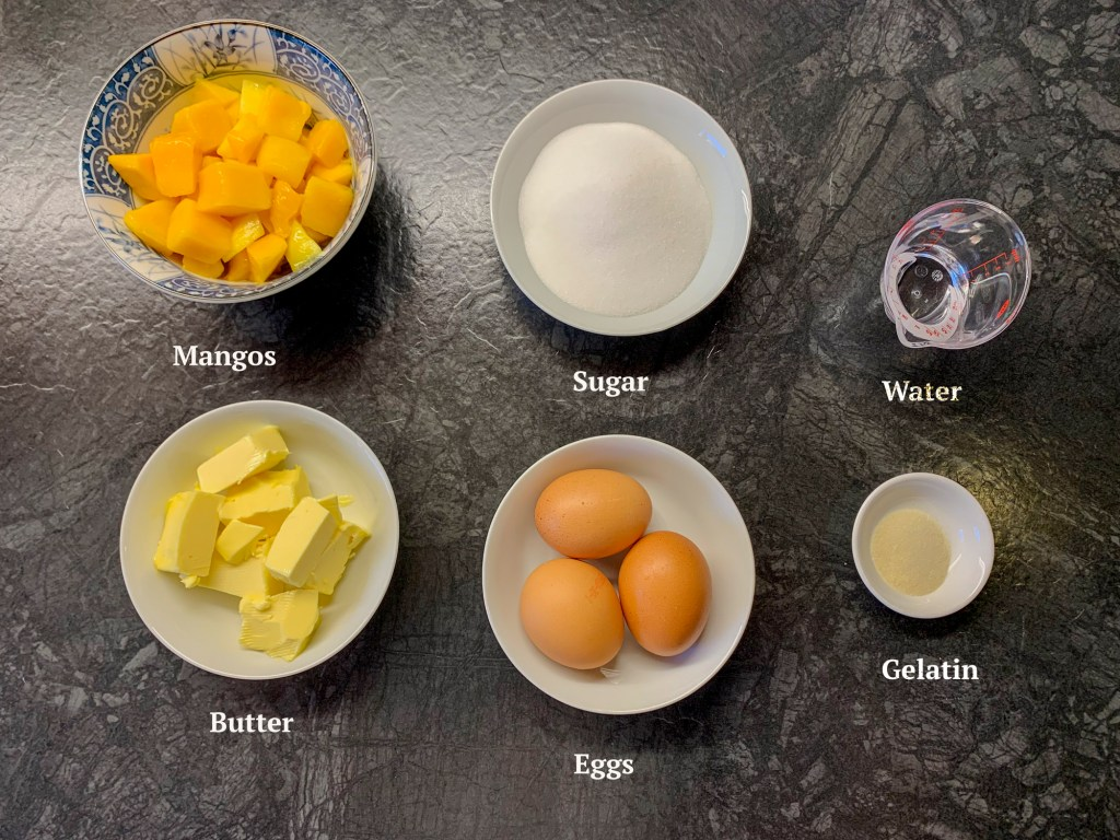 Ingredients for Mango Curd