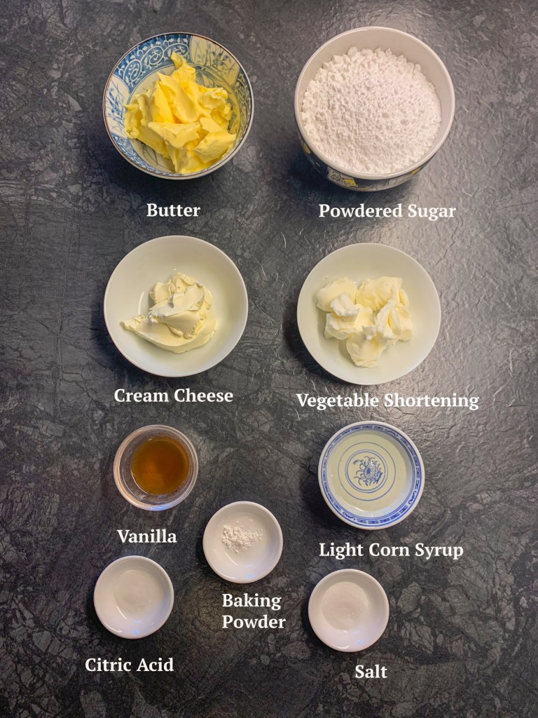Ingredients for a Strawberry Vanilla Layer Cake