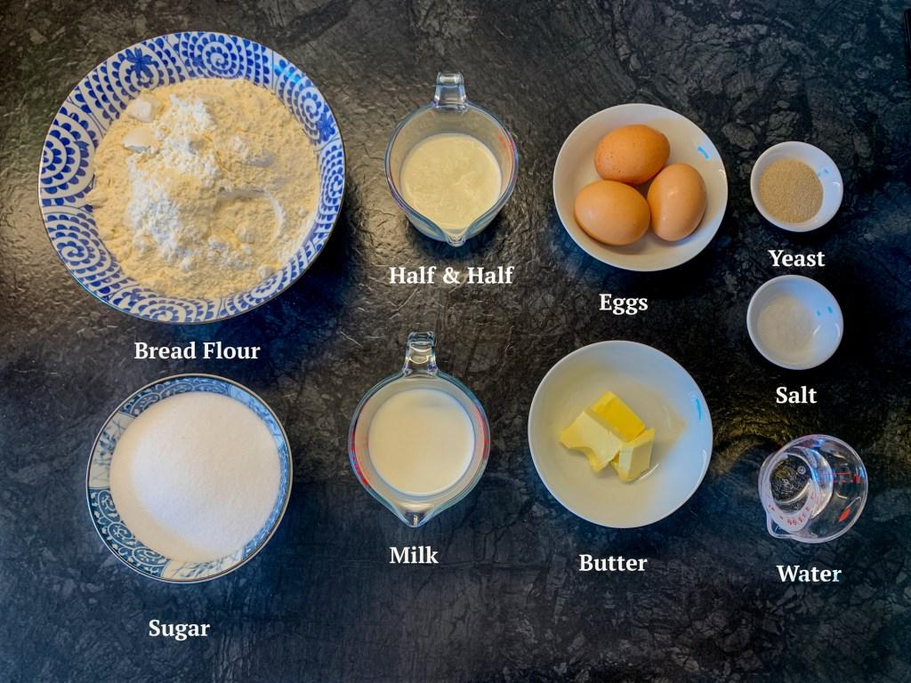 Ingredients for malasadas