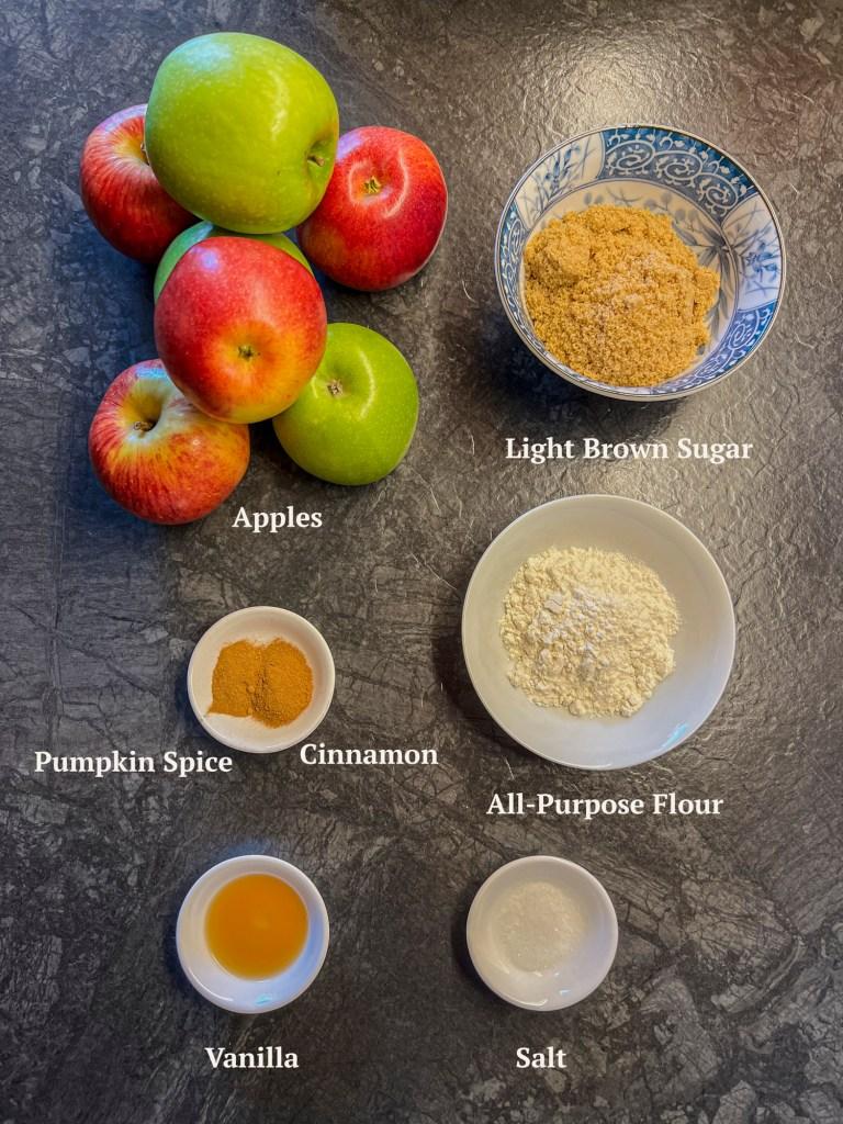 Ingredients for Apple Cobbler