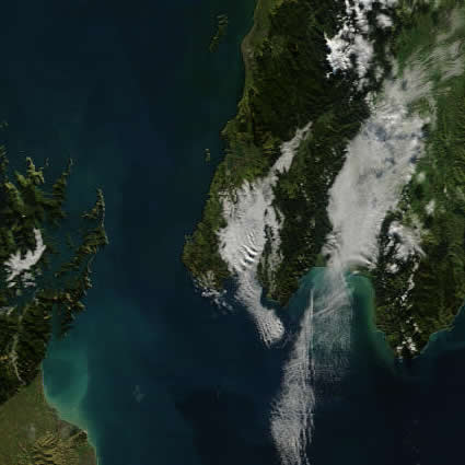 Satellite view of Wellington fog