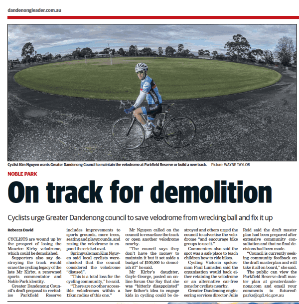 Dandenong Leader: On track for demolition (14 August 2018)