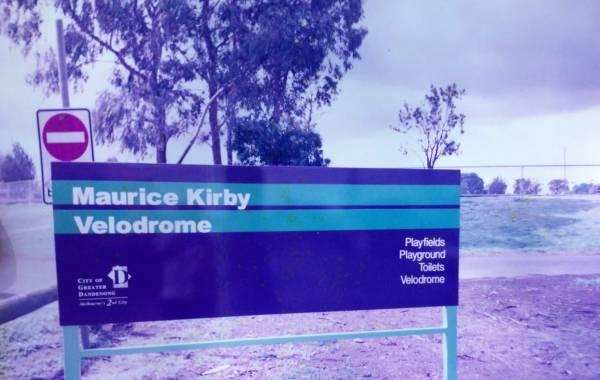 Maurice Kirby Velodrome wayfinding circa 2002, image credit: Gayle George