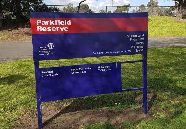 Parkfield Reserve wayfinding, 3rd September 2018, image credit: Steve Barnett