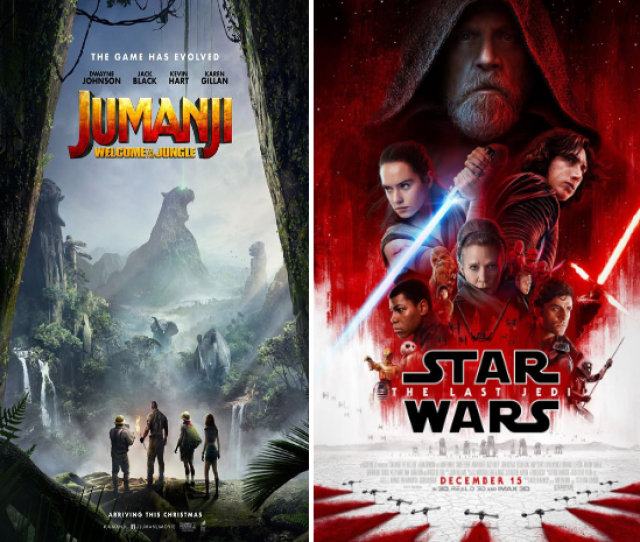 Drink To The Last Jedi And Jumanji Atop The Box Office For Boxing Day 2017