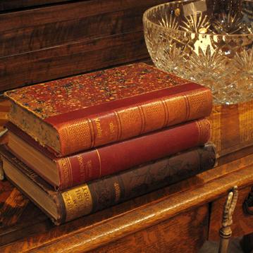 old beautiful antique books