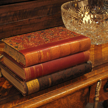 old beautiful antique books
