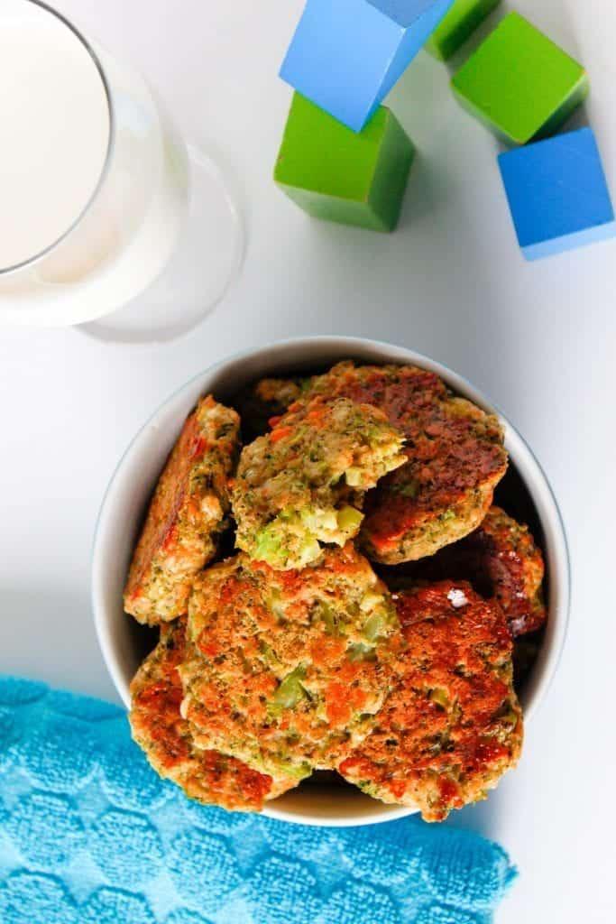 bouchées de brocoli et fromage