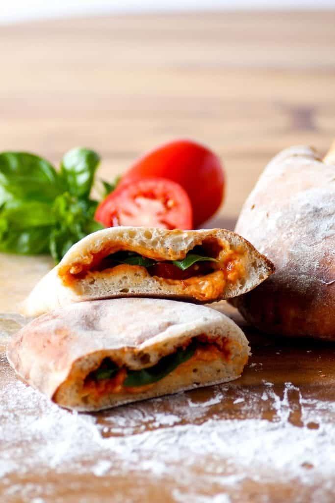 galzone tomates et mozzarella