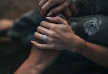 engagement ring hands