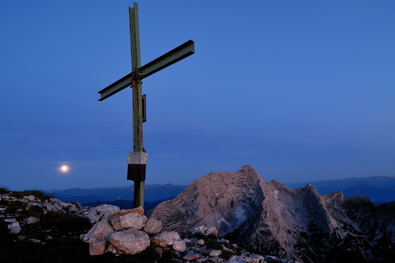 Monduntergang auf dem Hochzinödl (Jun´06) - Österreich