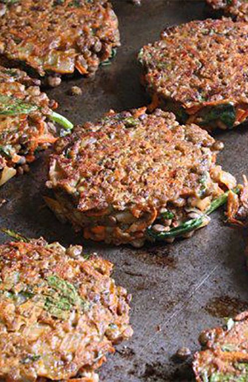 NoBull Veggie Burgers on Grill