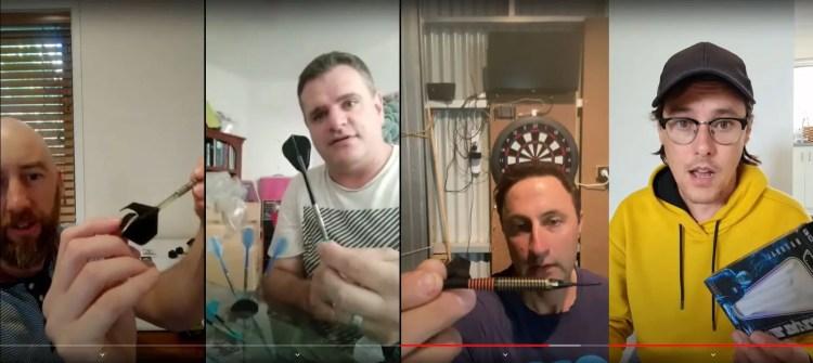 Screenshots of No Bull Darts selfie video showing their darts