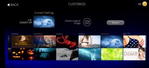 gran board app - select custom background