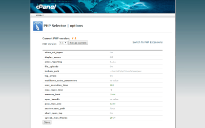How to edit the memory limit in cPanel