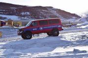 "A ""Light"" vehicle around McMurdo Station"