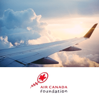 Airplane with Air Canada Foundation Logo 2016 EN