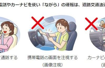 ながら運転厳罰化