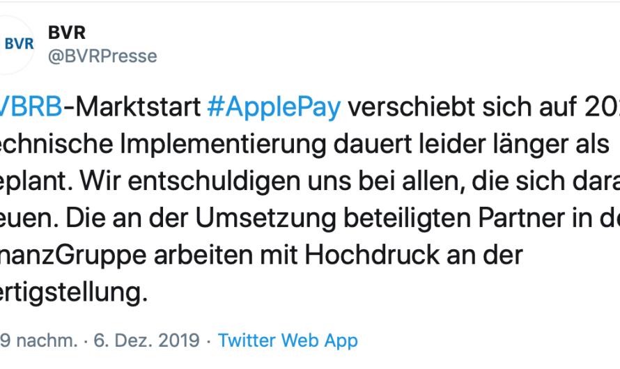 Kommentar: Genossen verschieben Apple Pay-Launch in letzter Minute