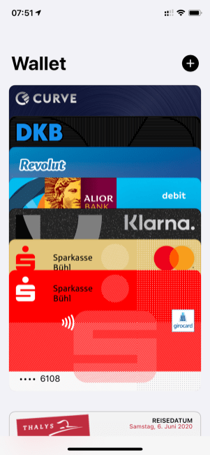 Kartenzoo in meiner Apple Wallet (gibt noch mehr Karten...)