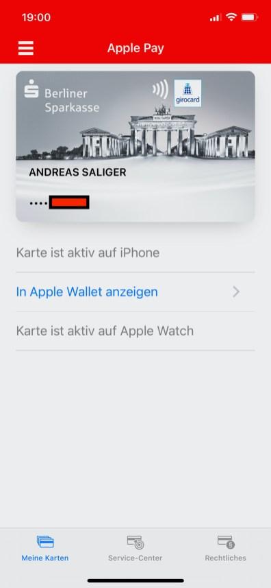 S-App: Hinzufügen der girocard zu Apple Pay
