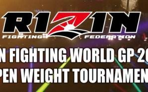 Mudanças no Torneio Openweight do RIZIN: Novo oponente de Cro…