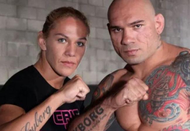 Evangelista Santos com sua ex-esposa Cristiane Justino, a qual foi casado até Dezembro de 2011 (Foto: Tapology)