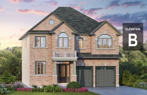 Chelsea elevation B is an all brick model, allowing for a brighter look!