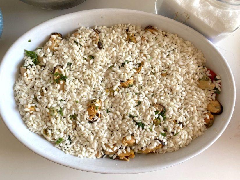 Tiella di riso patate e cozze step 6
