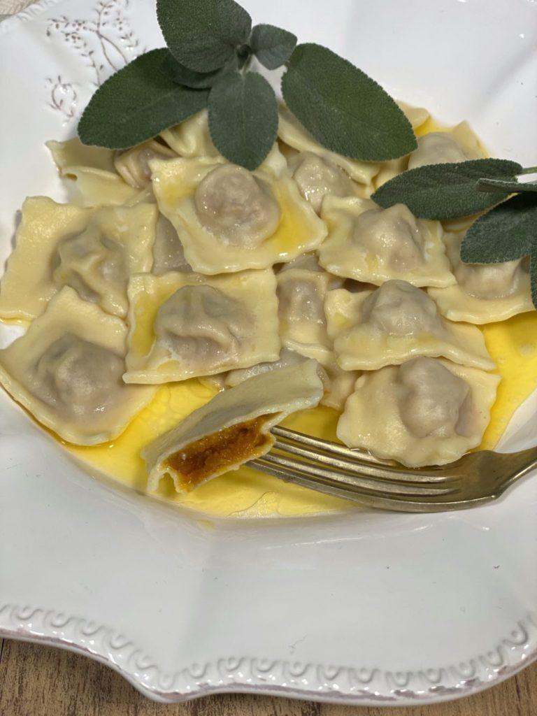 Tortelli di zucca senza formaggio, il ripieno