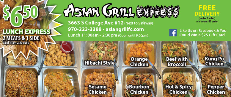 Asian Grill Express, Fort Collins - Lunch Express Deal and Meal Coupons