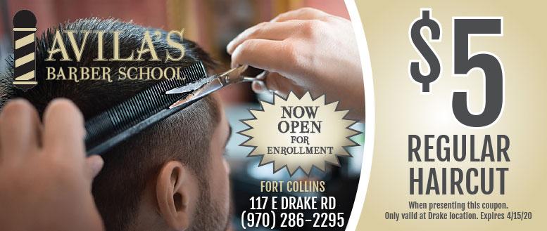 Avila's Barbershop Coupon