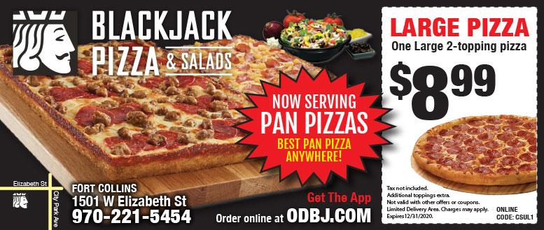 Blackjack Pizza Fort Collins Coupon Deals