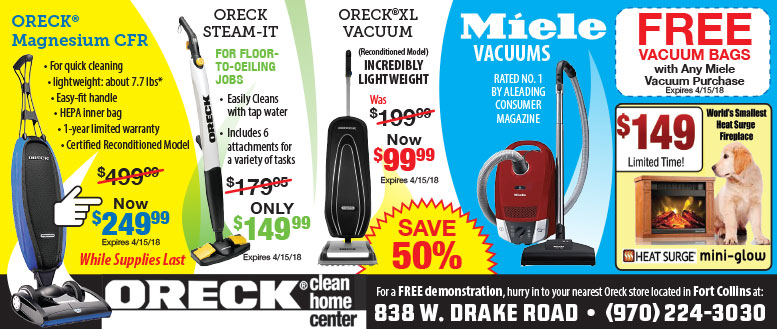 Oreck Fort Collins Vacuum Coupons