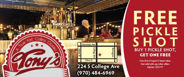 Tony's Bar Fort Collins Coupons