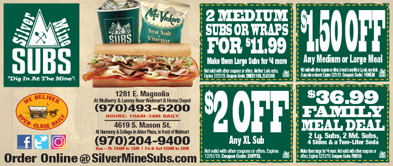 coupon code silver mine subs