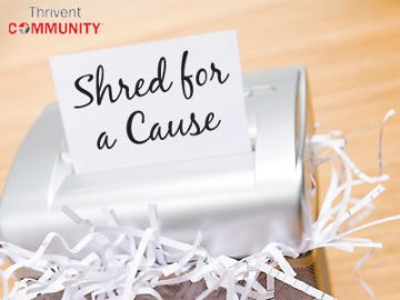 Thrivent Shred Event