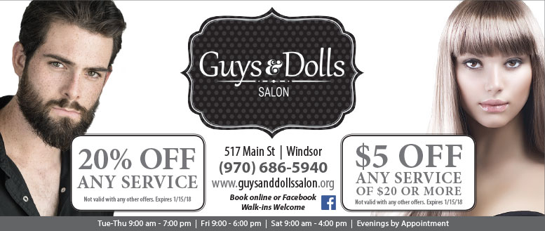 Guys & Dolls Hair Salon Coupon Deals in Windsor, CO