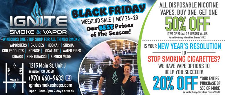 Ignite Smoke & Vapor Shop Coupon Deals in Windsor