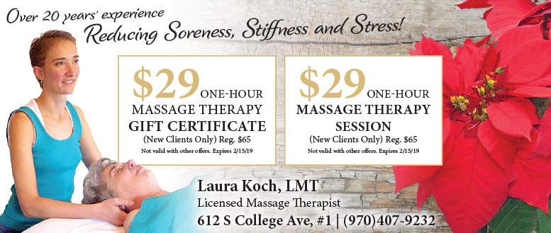 Laura Koch Massage Therapy Coupon Deals in Fort Collins