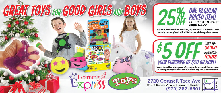 Learning Express Toys Store Coupon Deals in Fort Collins