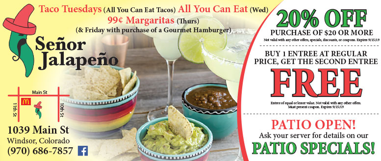 Señor Jalapeño Mexican Restaurant Coupons in Windsor, CO