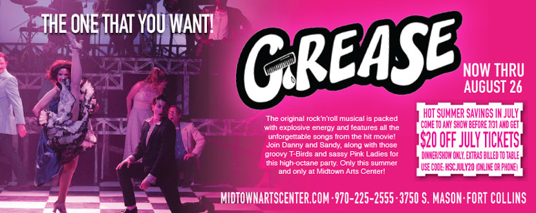 Grease Musical Coupon Deal - $20 Off Tickets at Midtown Art Center in Fort Collins