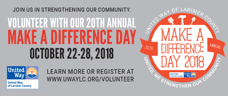 Volunteers Needed for United Way of Larimer County Make a Difference Day