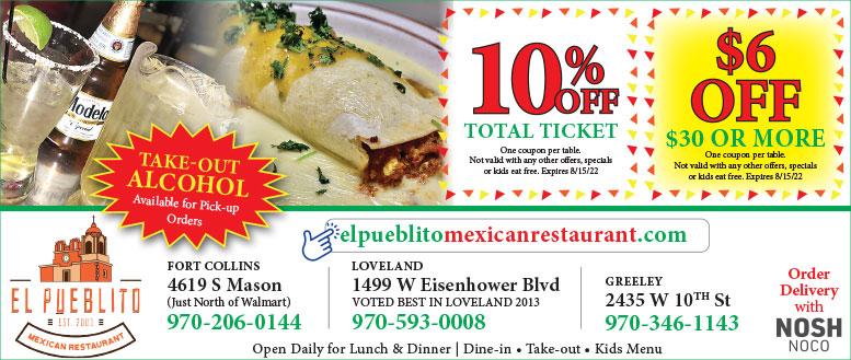 El Pueblito Mexican Restaurant Coupon Deals - Save up to $6